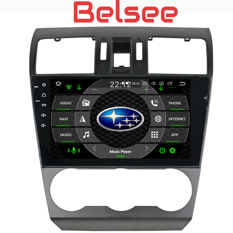 Belsee for Subaru Forester Android 8 Car Radio Octa Core 4GB 2 Din Stereo Bluetooth Head Unit Autoradio Audio Multimedia Player