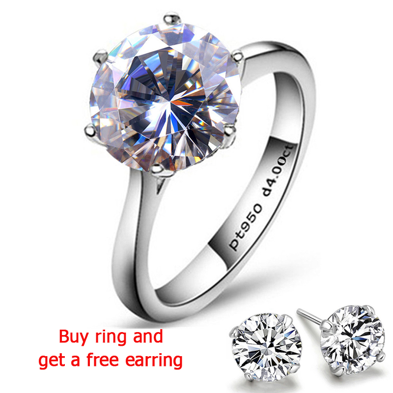 QYI Halo Rings For Women 4 Carat Solitaire Wedding Rings 925 Silver Round Cut Zirconia Engage Rings Engagement