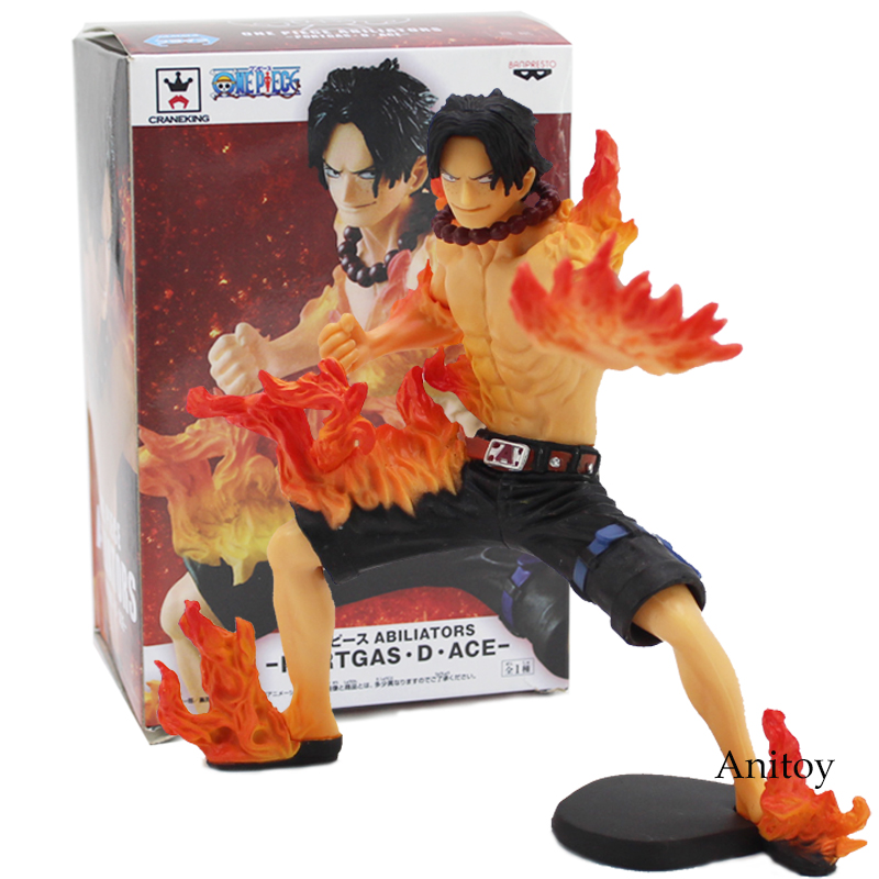 Anime One Piece ABILIATORS Portgas D Ace PVC Figure Collectible Model Toy 12cm