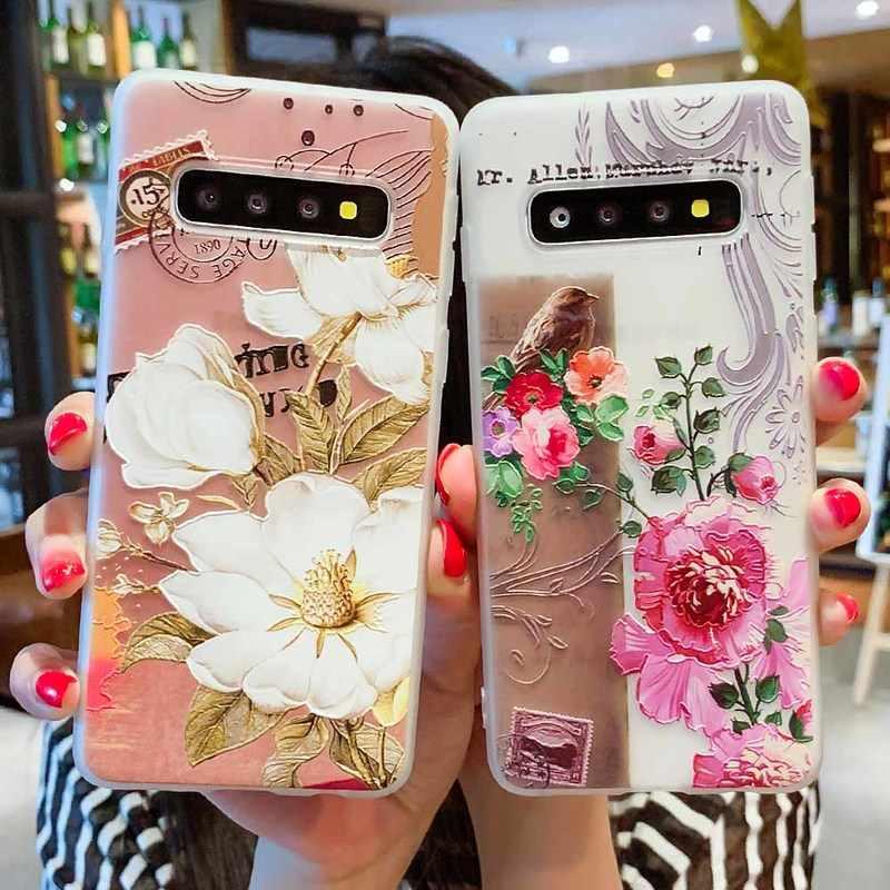 حقيبة لهاتف سامسونج جالاكسي S10 M10 M20 A30 A50 A7 A8 A6 J4 J6 الاتحاد الأوروبي الطبعة 2018 S8 S9 S10 J3 J5 J7 A3 A5 A7 2017 S10 Lite Flower Case