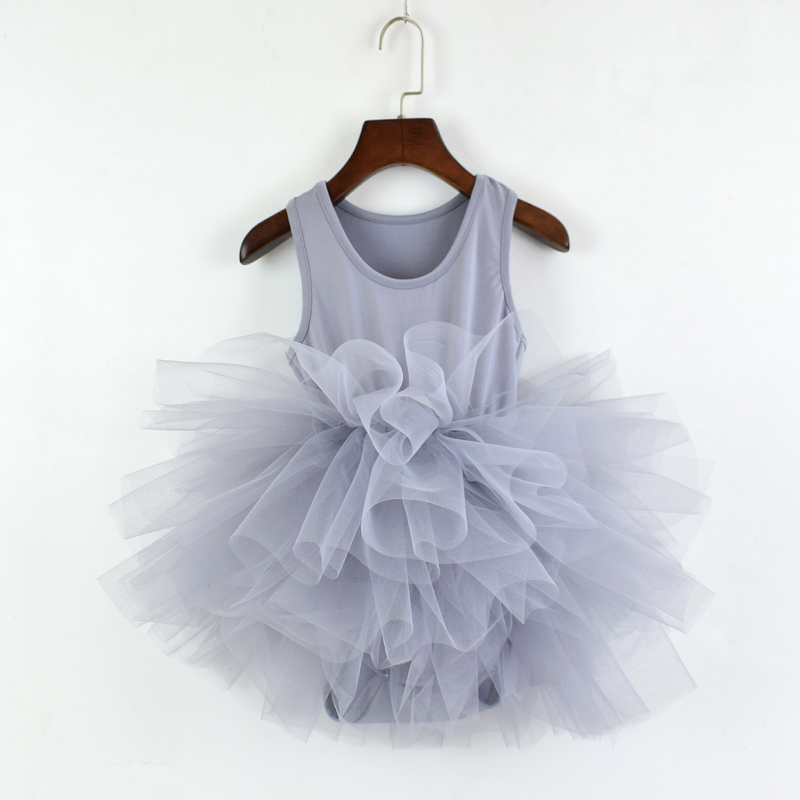 New Fashion Girls Dress Children's Pettiskirt Lovely Baby Girl Fluffy Ballet Dress Kids Tulle Tutu Sleeveless Vest Dress