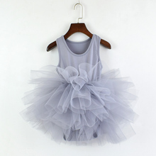 Новое модное платье для девочек; детская юбка-американка; милое Пышное балетное платье для маленьких девочек; детское фатиновое платье-пачка без рукавов; платье- майка
