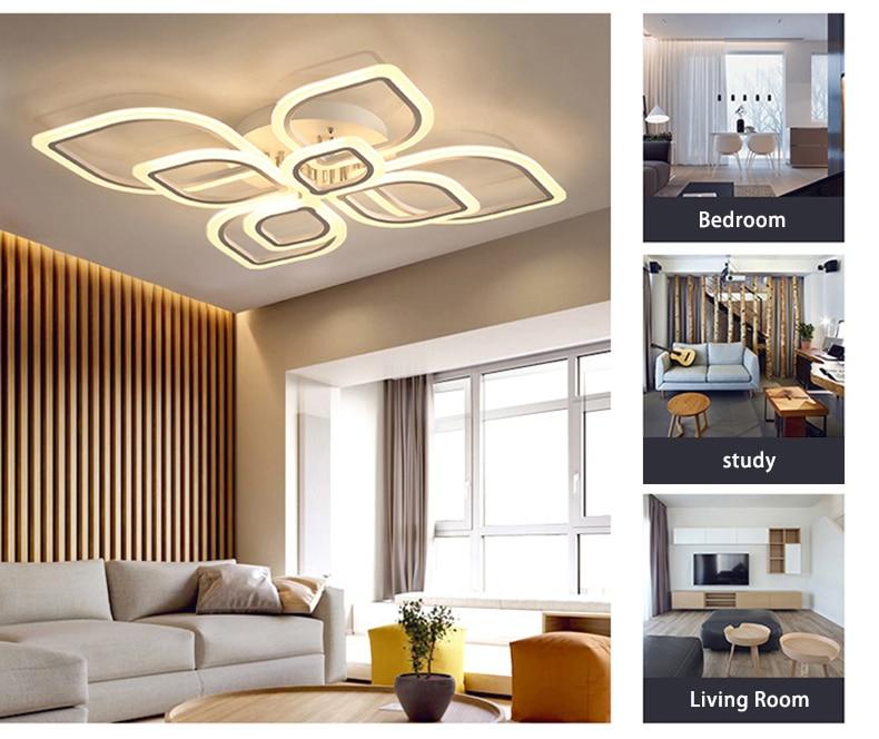HTB12ZCRXN2rK1RkSnhJq6ykdpXa3 Modern Chandeliers Led to Living Room Bedroom Dining Room Acrylic Ceiling Lamp Chandelier Home Indoor Lighting