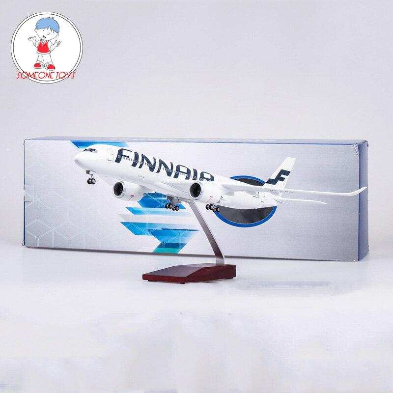 47CM 1/142 escala Diecast avión Airbus A350 FINNAIR avión modelo con ruedas Base Avión de resina para colectivo-in Troquelado y vehículos de juguete from Juguetes y pasatiempos    1
