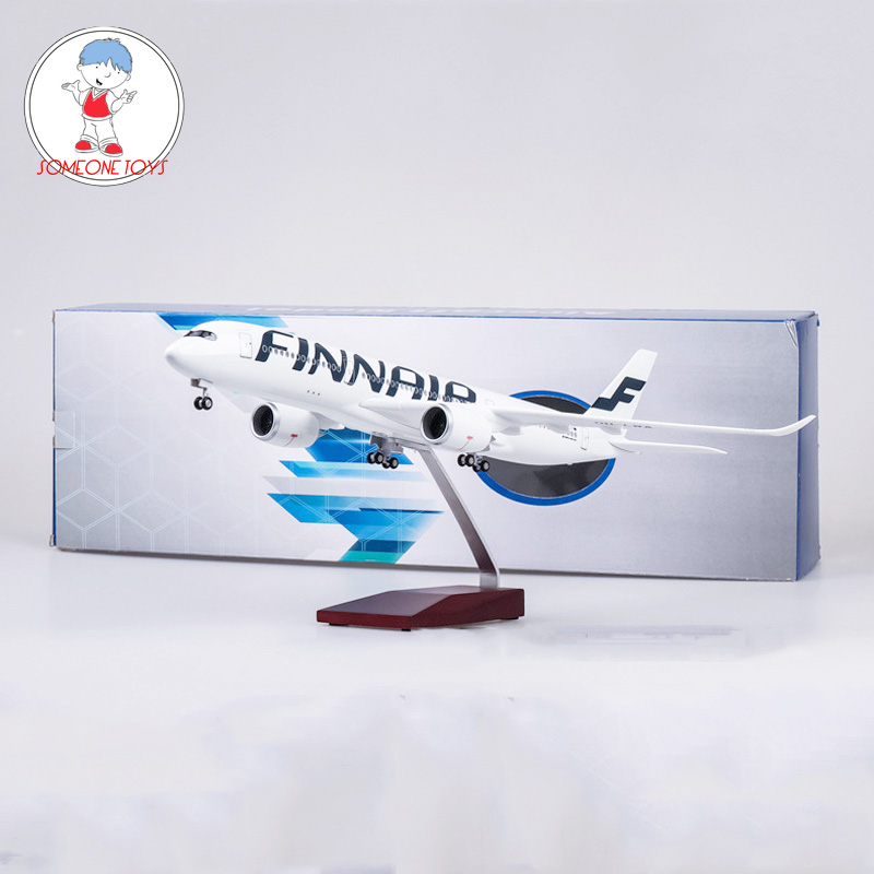 47CM 1/142 Scale Diecast Airplane Airbus A350 Finland FINNAIR Airline Model With Base Wheels Resin Plane For Collectio