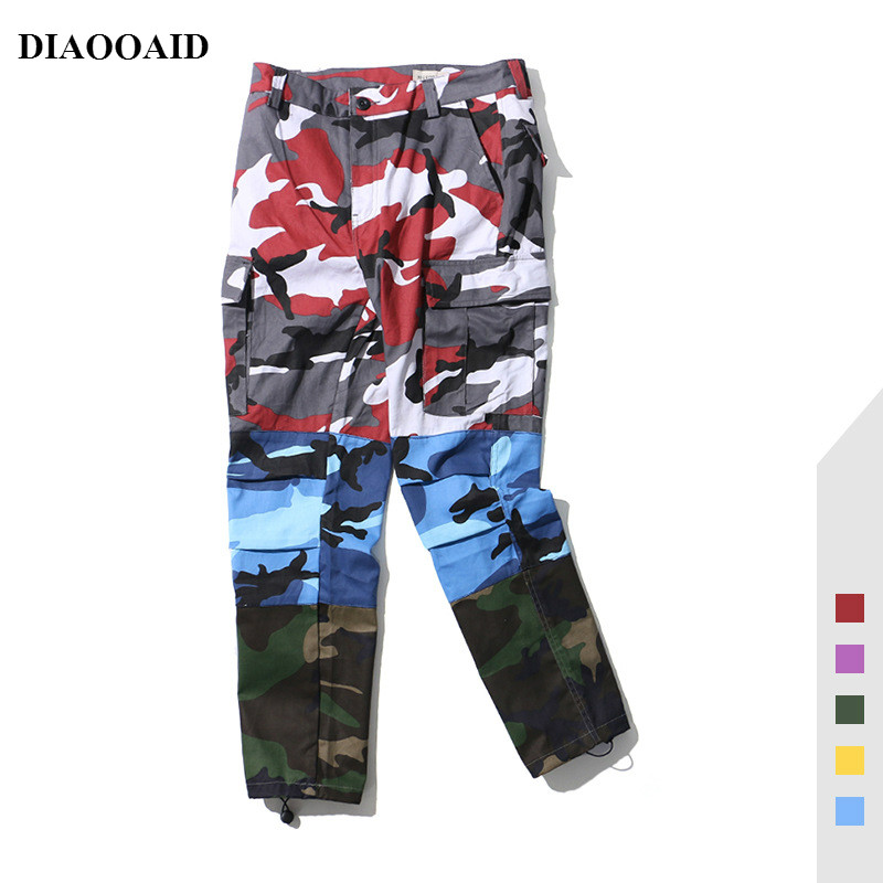 DIAOOAID Camouflage Joggers Pants Men Camo Streetwear Cargo Pants Hip Hop Trousers Male Multi-pocket Cotton Military Overalls