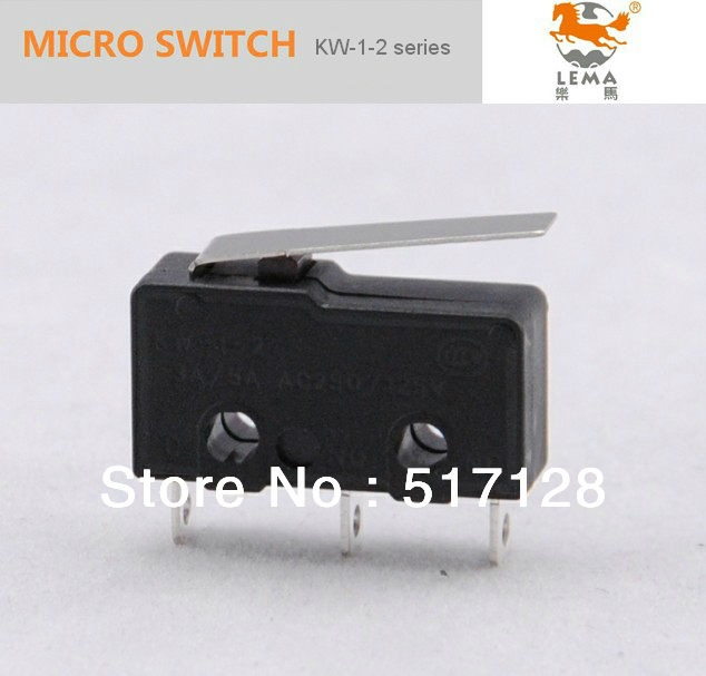 KW-12-1 5A  hinge lever switch, three terminal mini micro switch,types of electronic micro switches