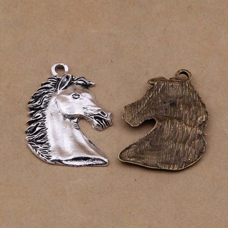 Shunyun 30pcs Charms Horse Head 28*40mm Antique Silver Bronze Pendants Vintage Jewelry Making DIY Handmade Craft
