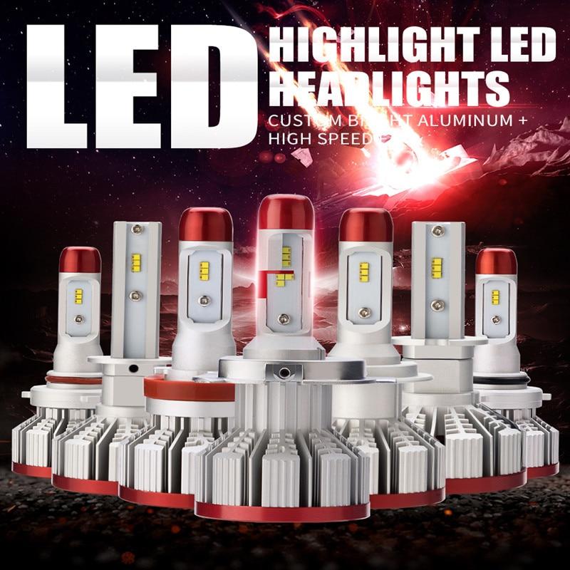 LDDCZENGHUITEC Car LED Headlight Bulb H4/H7/H11/H13/9005/9006/H3/H1 Hi-Lo Beam ZES CSP 64W 6000LM Auto Led Headlamp 12