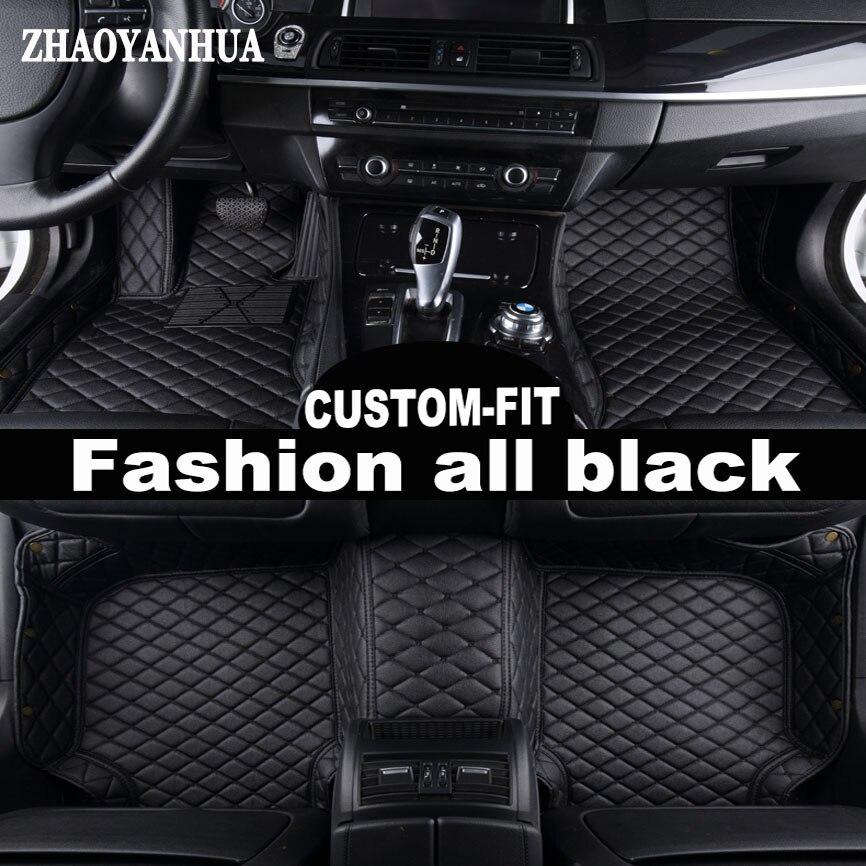 Zhaoyanhua Custom fit автомобильные коврики для BMW 5 серии E39 E60 E61 F10 F11 F07 GT 520i 525i 528i 530i 535i 530d 5D линованные коврики