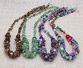 Ручной работы красочные камня бирюзы tassle длинные ожерелья мода модный себе женщины аксессуары и украшения бесплатная доставка