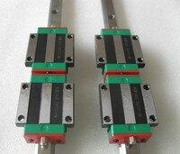 2 шт. 100% Оригинал Hiwin линейный рельс HGR15 L 1400 мм + 4 шт. HGW15CA HGW15CC Фланец Блок перевозки для ЧПУ