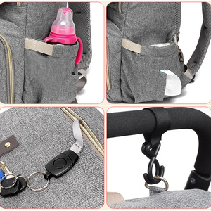 Image 5 - USB Rechargeable Independent Insulation Backpack Diaper Bag Waterproof Travel Bags Baby Stroller Nappy Bag Daddy Large Capacity