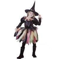 GRATIS VERZENDING! Kleine leuke Halloween heks kostuum met hoed, party kostuums voor meisjes