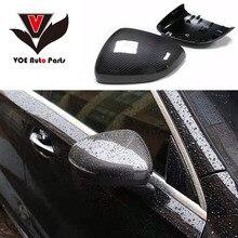 W177 замена углеродного волокна черный глянец Зеркало заднего вида, зеркала Чехлы для Mercedes-Benz новый класс W177 LHD