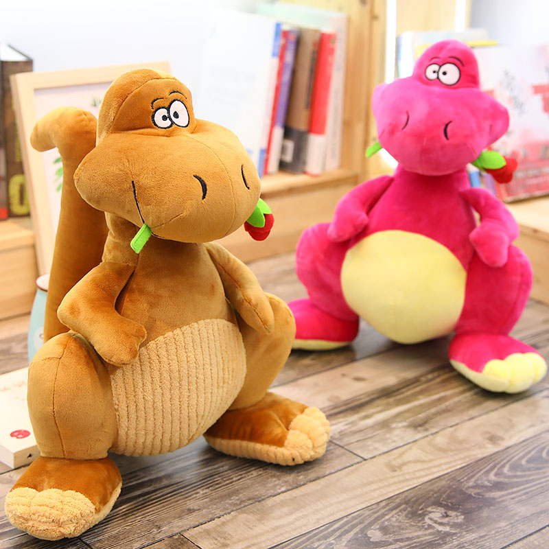 40 cm Soft Cartoon Funny Dinosaur Plush Toy Animal Bed Appeasing Toys for Children New Born Baby Gift Bedroom Decoration