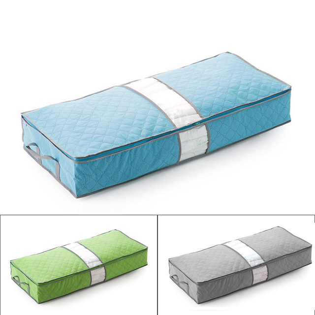 3 Colors Under Bed Bedroom Organizer The Storage Bag Box Gray For Clothes
