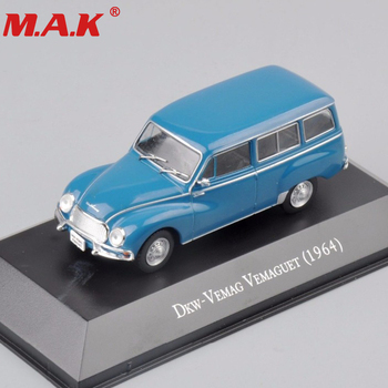 1:43 scale alloy diecast DKW-VEMAG vemaguet 1964 vehicles blue clasic car truck model toys collective collection gifts