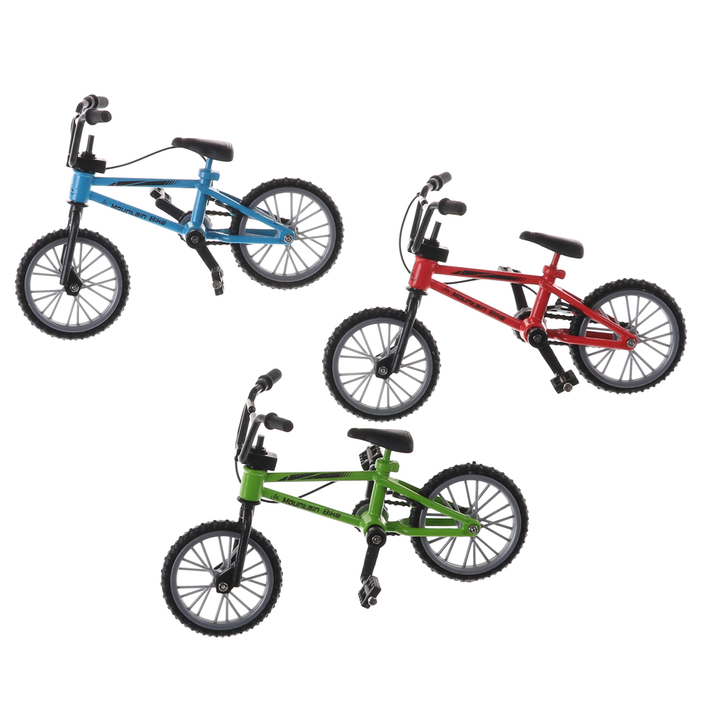 Mini Finger Bmx Toys Mountain Bike BMX Fixie Bicycle Finger Scooter Toy Creative Game Suit Children Grownup Red Green Blue