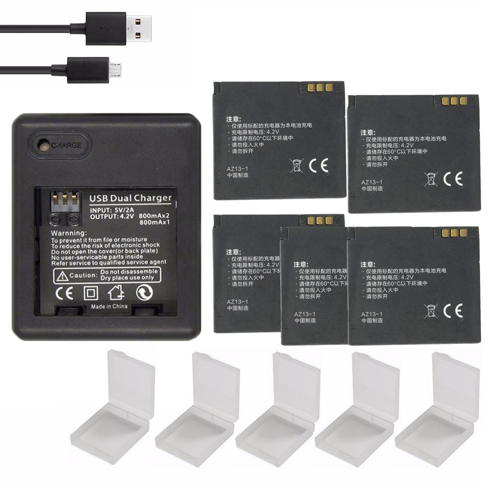 1010mAH 3.7v Xiao Yi Battery Xiaoyi Yi Backup Batteries Accessories + USB Charger For Xiaomi Yi Action Camera Original Battery