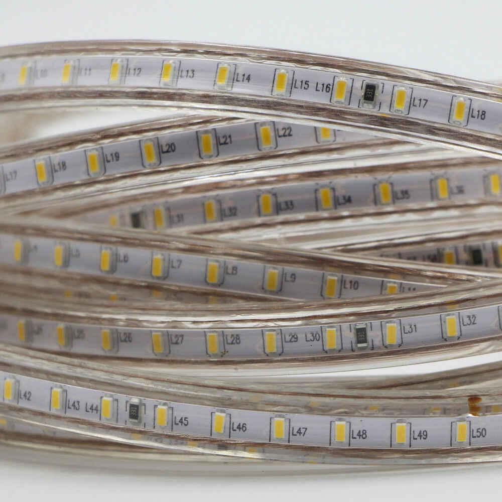 AC 220V 240V 110V Waterproof Led strip light with EU US UK Plug 3014 SMD flexible Rope Light 120 Led/M outdoor indoor decoration