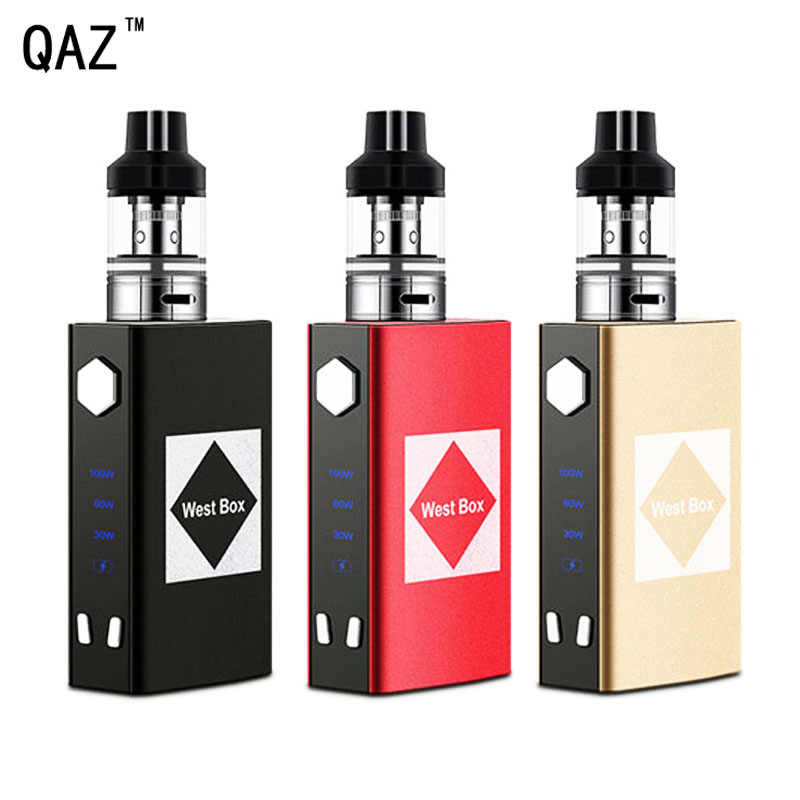 QAZ 新 100 ワット液体吸うペンボックス mod キット電子タバコ気化器 2 ミリリットル内蔵バッテリー 1800 電子タバコ水ギセル vaper