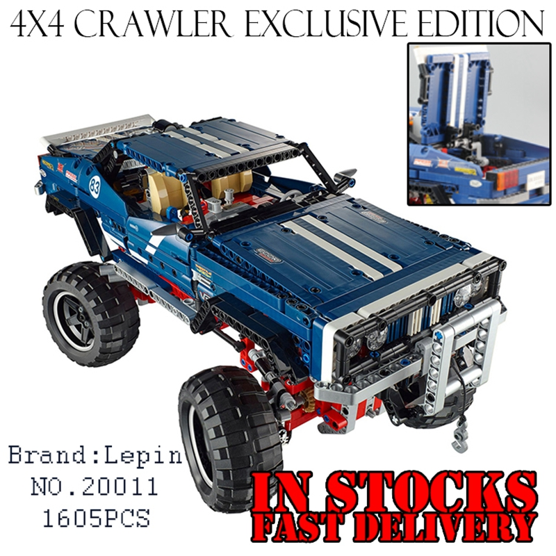Lepin 20011 1605pcs technic remote control electric off-road vehicles Educational building block toys gift compatible with 41999 lepin 22001 pirate ship imperial warships model building block briks toys gift 1717pcs compatible legoed 10210