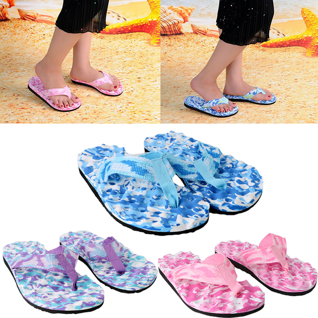 eebef5400 THINKTHENDO New Arrive 1Pair Women Summer Beach Slippers Flip Flops Shoes  Sandals Slipper Indoor Outdoor