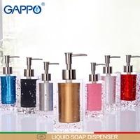 GAPPO Bathroom liquid soap dispensers resin soap pump imported resin Bottles Bath Shower Accessories soap dispensers bottles