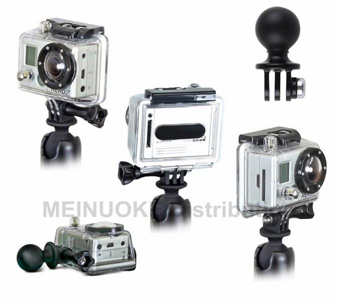 Gopro Hero 액션 카메라 용 삼각대 마운트가 장착 된 1 인치 공
