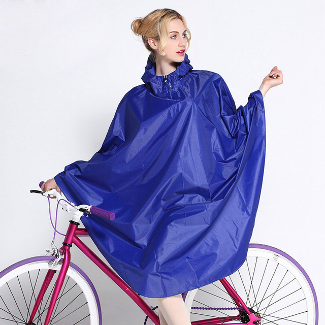 Fashion Bike Rain Poncho Women Hooded Raincoat Outdoor Bicycle