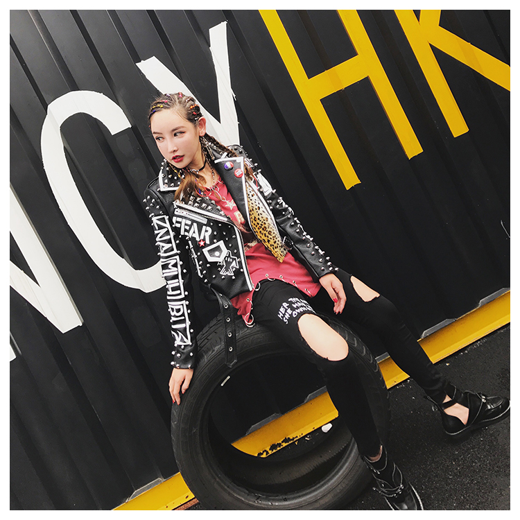 53a655efc VARBOO ELSA 2017 Fashion Autumn Women Punk rock Heavy Metal Street ...