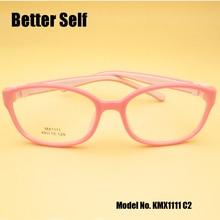 Better Self KMX1111 Full Rim Spectacle Fames Flexible Eyewear Soft Nose Pads Eyeglasses Kids