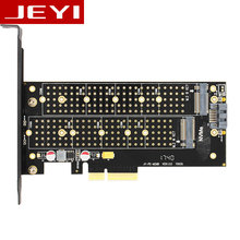 JEYI SK7 M.2 NVMe SSD NGFF TO PCI-E X4 adapter M Key B KEY Dual interface card Suppor PCI Express3.0 Dual voltage 12v+3.3v SATA3