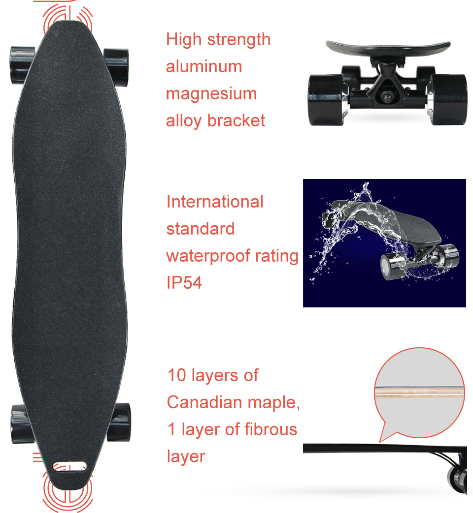 4 Wheel Electric Skateboard Scooter Electrico hoverboard (5)
