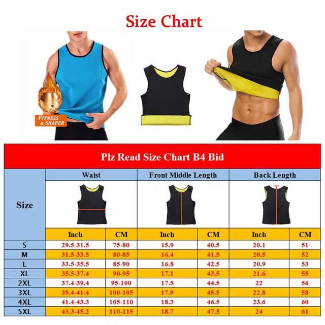 Body Slim Underwear Shaper Men Waist Trimmer  Tummy Control Shapewear Slimming Suits  Neoprene Sweat Vest for Weight Loss XXXXXL 4
