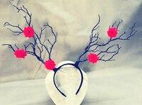 Vintage Artificielle Arbre Branches Bandeau Accessoires Staghorns Fleur Cheveux Accessoire Gothique