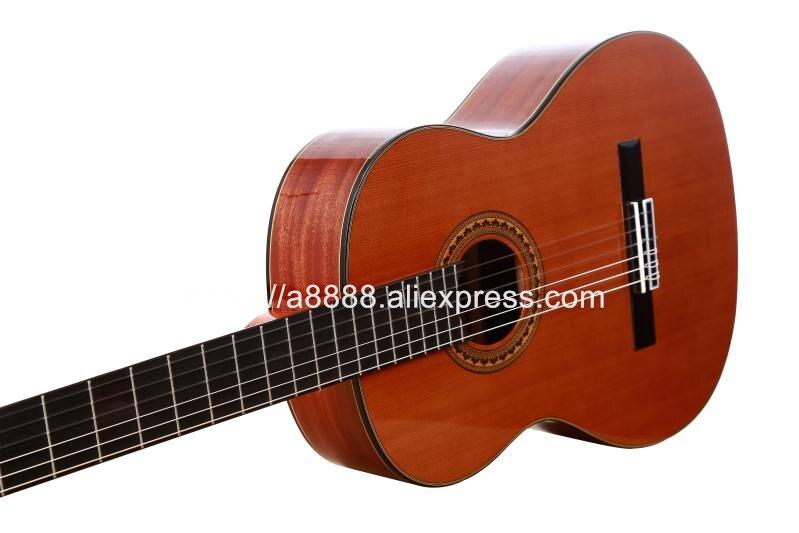 Professionnel 36 pouces Acoustique Classique guitare Avec table En Cèdre Massif/Magogany Corps, 3/4 Classique guitare 580 MM, voyager guitare
