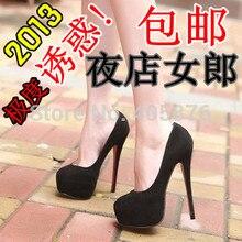 Ultra high heels 14cm thin heels high-heeled shoes female princess platform wedding shoes red bridal shoes