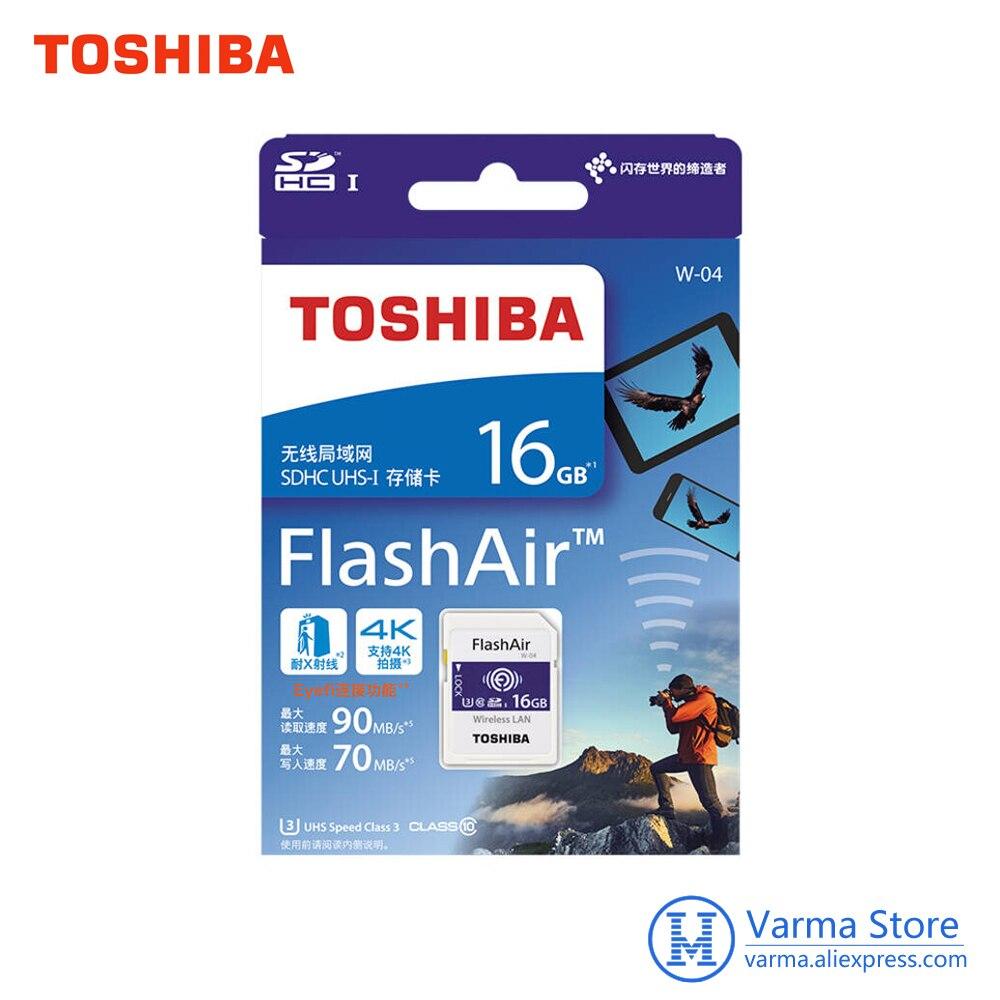 Image 4 - Toshiba Wifi karty SD, lustrzanka, aparat fotograficzny, pamięci karty szybkiego wsparcie 4 K bezprzewodowy karty SD 16 GB 32 GB 64GBWiFi SD karty pamięciKarty pamięci   -