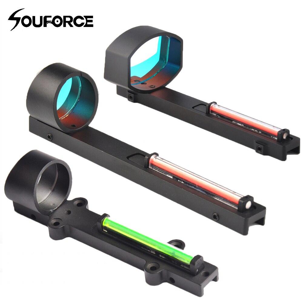 Fibra tático Verde Vermelho Vista Holográfica Red Green Dot Sight Scope Shotgun Ajuste Trilho Acessório Arma para a Caça