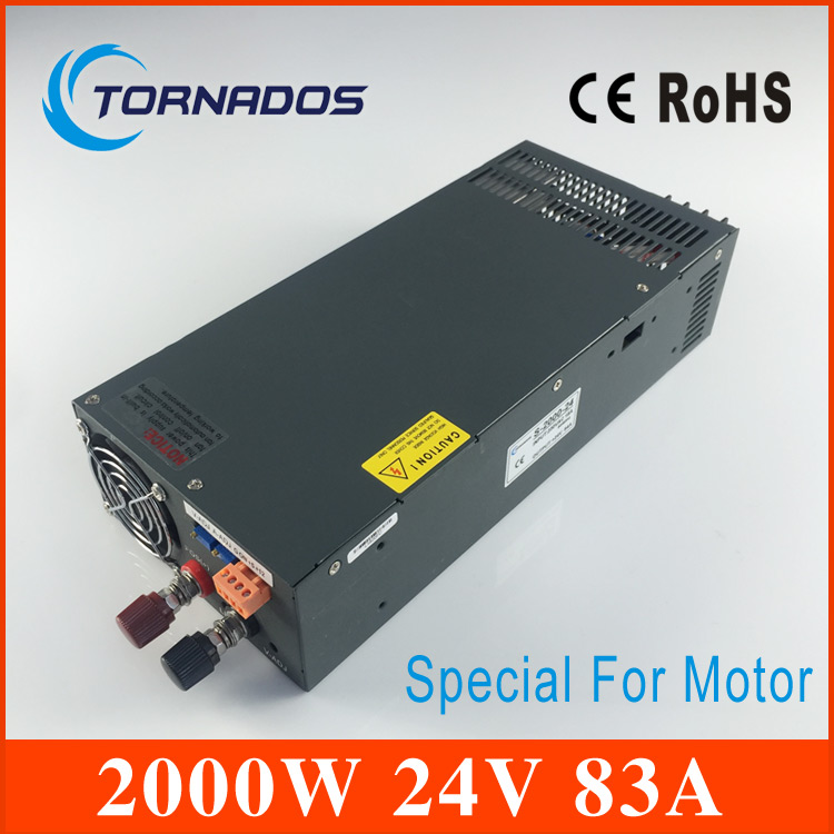 2000W 24V Switching power supply for DC Motor AC to DC power suply input 220v ac to dc power supply S-2000-24 ac dc ac dc for those about to rock we salute you lp