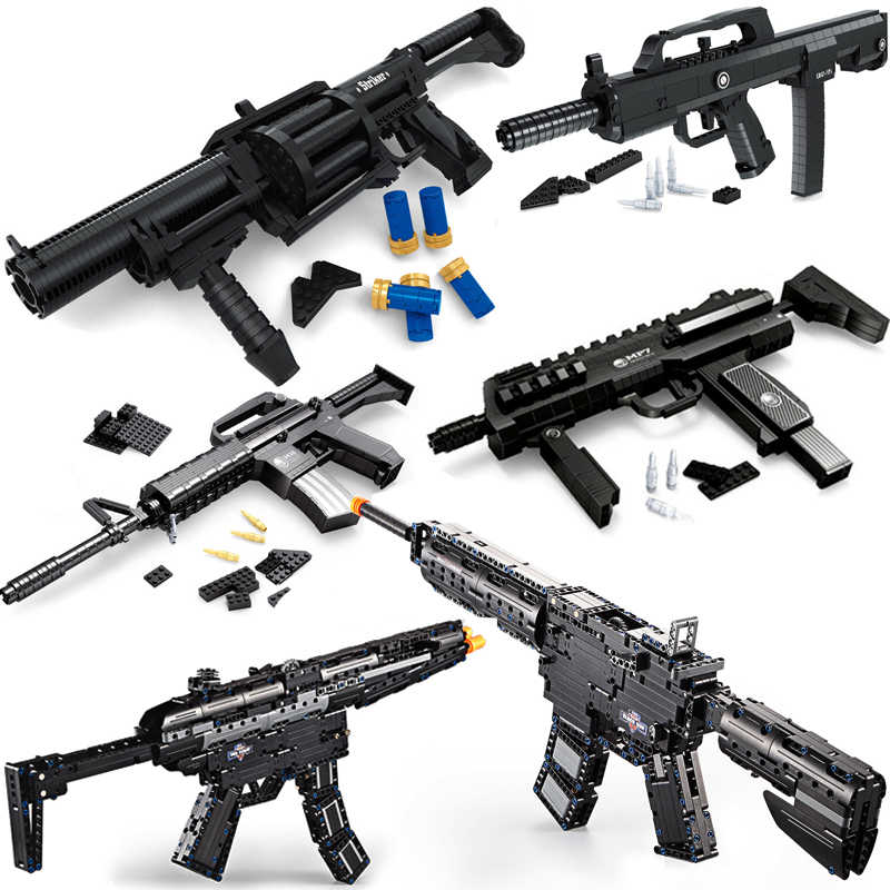 Sniper Rifle compatible legoed Guns SWAT Military weapon pack lot blocks Model building kits ww2 M4A1 M16 child kid toys technic
