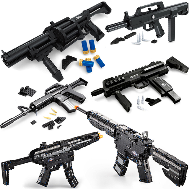 Sniper Rifle compatible  Guns SWAT Military weapon pack lot blocks Model building kits ww2 M4A1 M16 child kid toys technic
