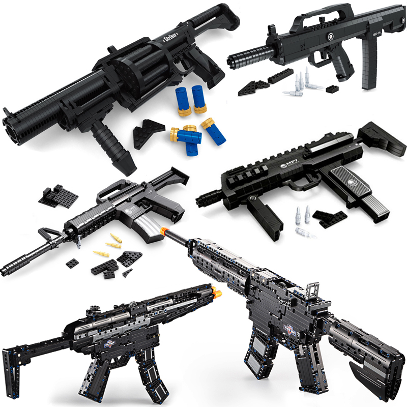 Sniper Rifle Compatible Legoed Guns SWAT Military Weapon