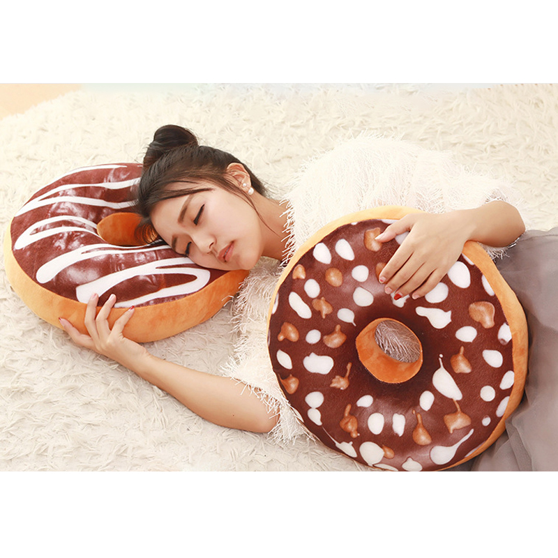 Chocolate Donuts Cushion And Soft Plush Pillow Car Seat Mats Cushion 7