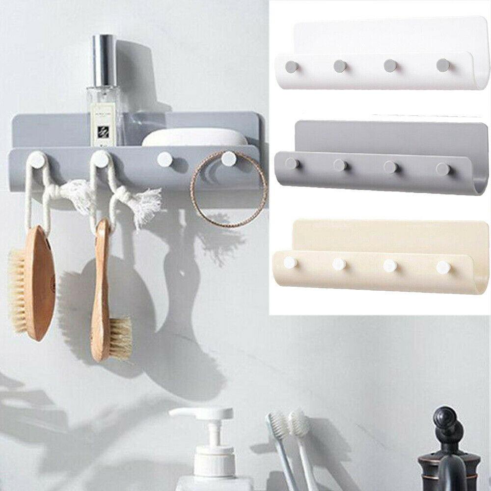 Key Holder Rack Post Organizer Letter Box Mail Door Hanger Wall Mount 4 Hooks