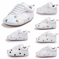 2017 Hot sale Pu leather baby sneakers Fashion design baby sport shoes  Newborn baby shoes Many styles for choose