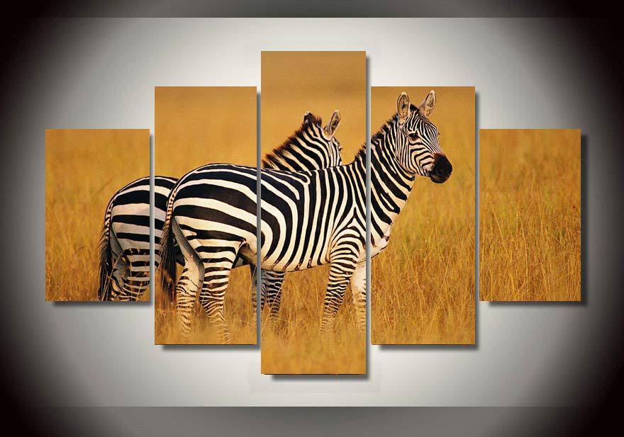 Enmarcado Impresas África Grupo paisaje Pintura decoración de la ...