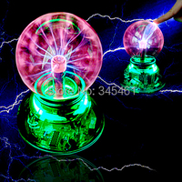 Novelty Lighiting USB Magic Ball Glass Static Plasma Ball Sphere Induced Lighting USB Cable Audio Control